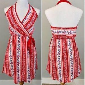 Anthropologie Monteau Dress Small NWT Halter Wrap